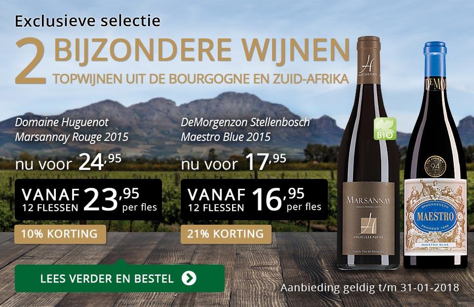 Exclusieve wijnen januari 2018 - goud/zwart