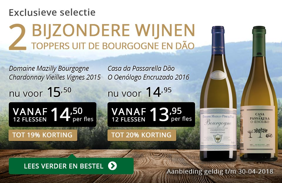 Exclusieve wijnen april 2018- goud/zwart