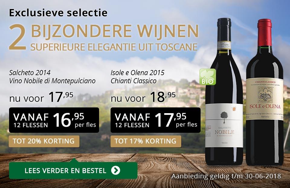 Exclusieve wijnen juni 2018 - goud/zwart