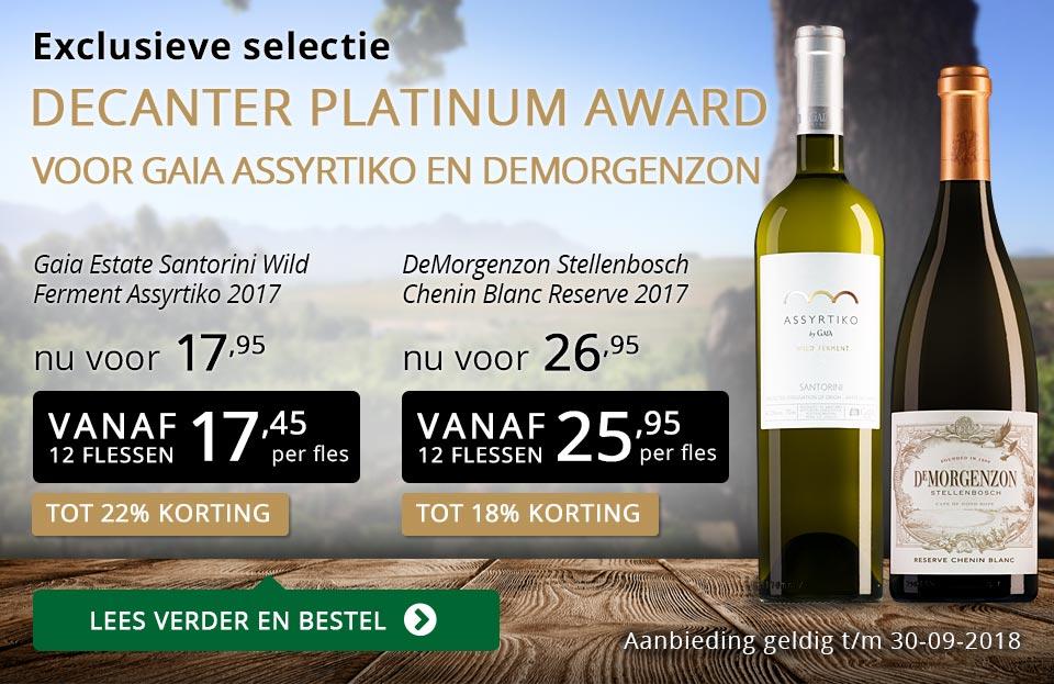 Exclusieve wijnen september 2018 - goud/zwart