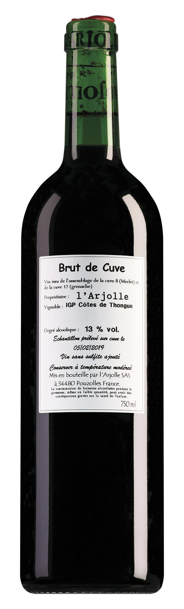 Domaine de l'Arjolle Côtes de Thongue Brut de Cuve