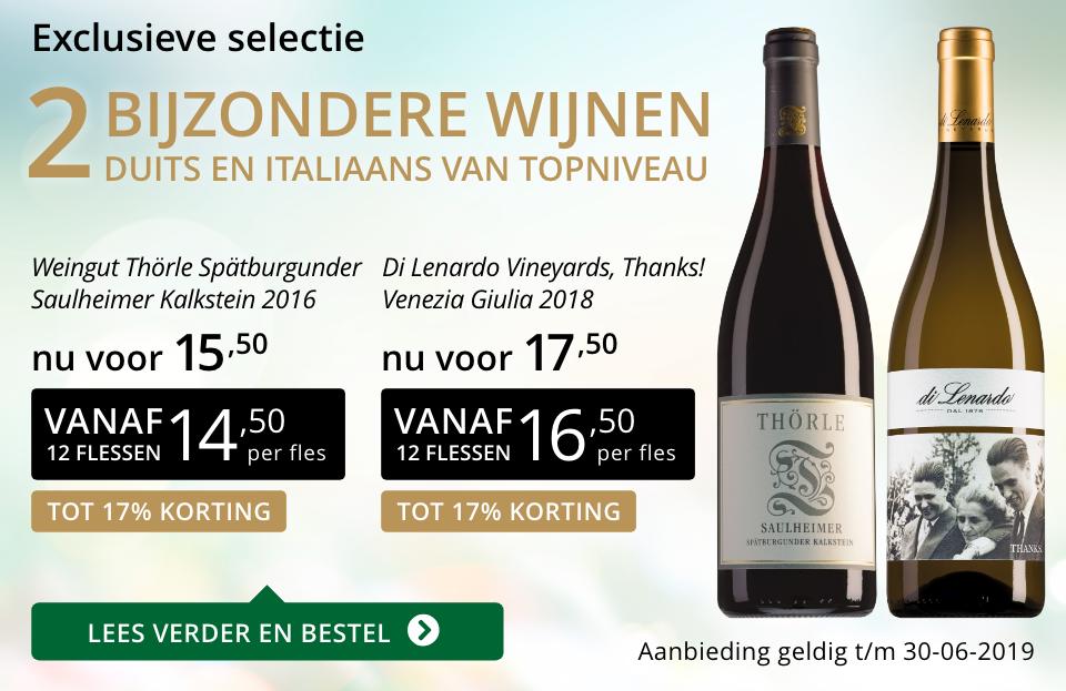 Twee bijzondere wijnen juni 2019 - goud/zwart