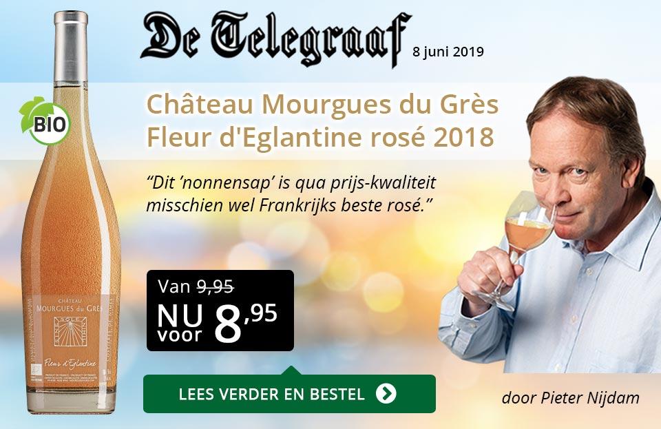 Telegraaf vermelding - Mourgues du Gres - goud/zwart