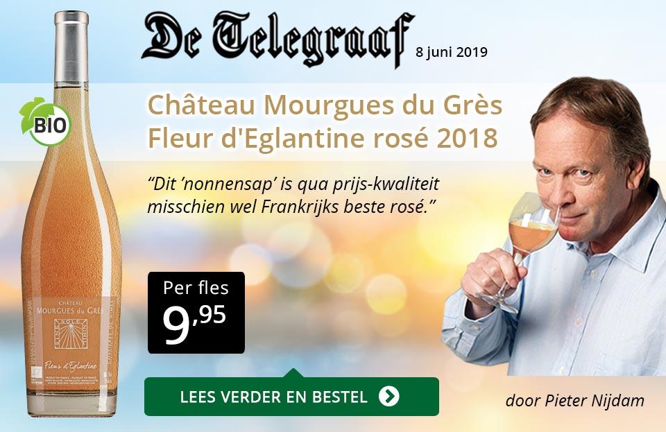 Telegraaf vermelding - Mourgues du Gres  ZP - goud/zwart