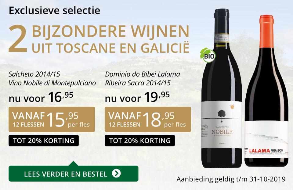 Twee bijzondere wijnen oktober 2019 - goud/zwart