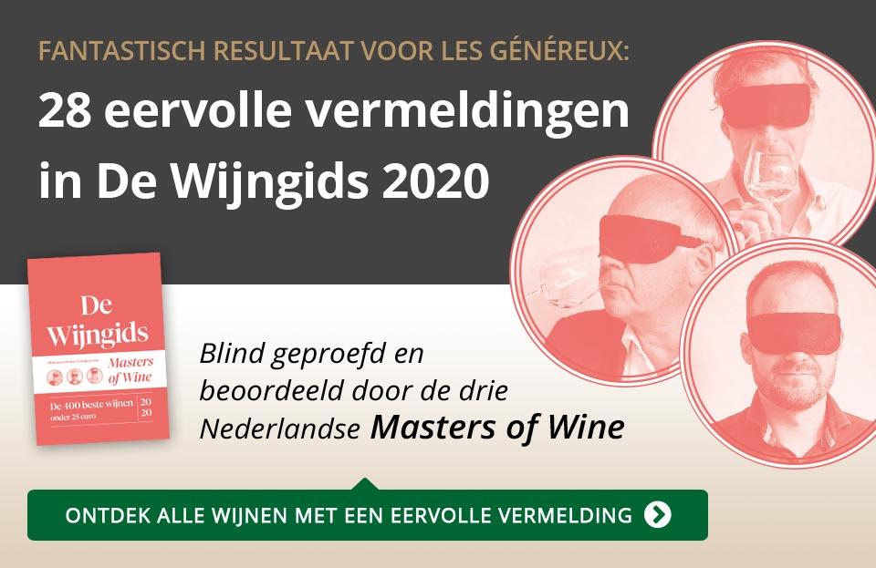 De Wijngids 2020 - 28 eervolle vermeldingen