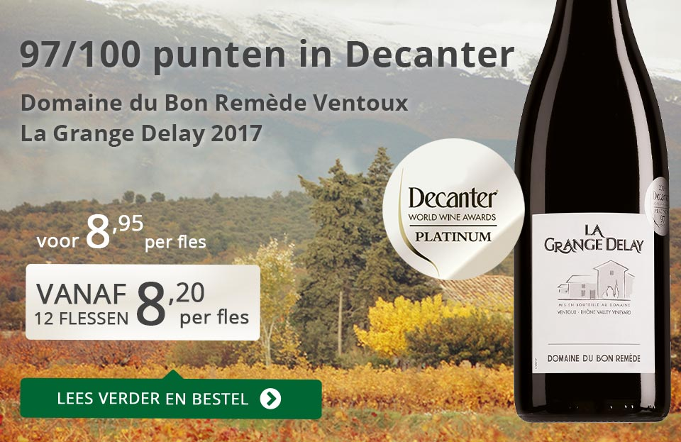 La Grange Delay 2017 Decanter Platinum (8,95 + 12 flessen prijs)