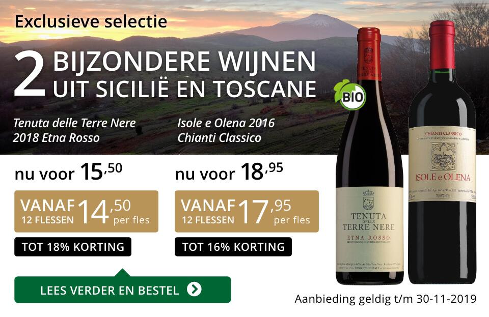 Twee bijzondere wijnen november 2019 - goud/zwart