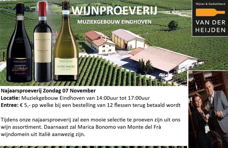 Wijnproeverij 7 November Muziekgebouw Eindhoven