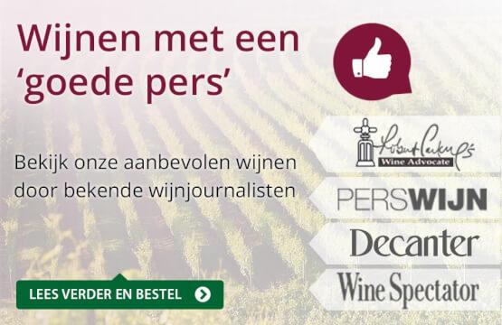 Wijnen met een goede pers - paars